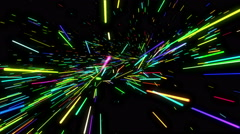 Stock Video Footage of Colorful Circular Concentric Radiating Sparks Loop