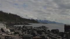 Seduction Point Alaska Coast Range Stock Footage
