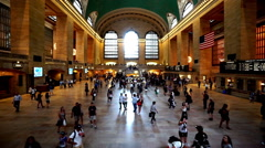 New York City, USA-Jul 6,2015: Grand Central station  in New York City, NY Stock Footage