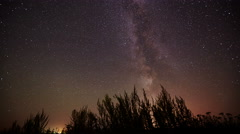 Night sky Milky Way timelapse - stars rotation background Stock Footage