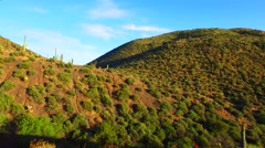 Fly over the desert canyon AZ.mp4 Stock Footage