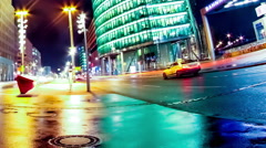 Time-lapse of Traffic pass by on the Potsdamer Platz in Berlin Stock Footage