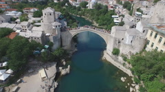Old Bridge, Mostar, Bosnia and Herzegovina - stock footage
