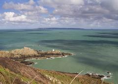 Jerbourg Point on Guernsey - stock photo
