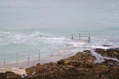 Natural Pool in Guernsey - stock photo