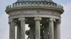 The Monopteros's columns in Munich Stock Footage