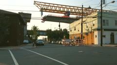 The Bayonne Bridge Construction 4K Stock Footage