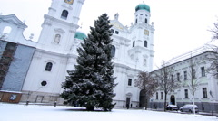 The St. Stephan's Cathedral in Passau Stock Footage