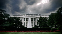 Stock Video Footage of Ominous Storm Clouds Over White House in Washington D.C.