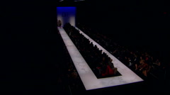 Diane von Furstenberg being appreciated by guests during Fall 2008 fashion show Stock Footage