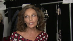 Fashion models preparing backstage for fashion show Stock Footage