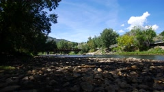 A nice wide shot of a scenic river in Durango, Colorado. Filmed in 4K UHD. - stock footage