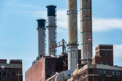 Stock Photo of Power Plant, East River, NYC