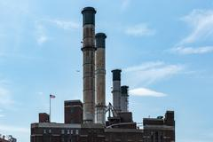 Power Plant, East River, NYC Stock Photos