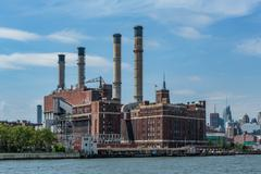 Power Plant, East River, NYC - stock photo