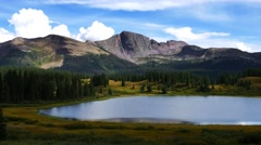 Scenic shot of a high elevation Colorado mountain lake - stock footage