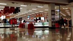 Store closing down at night inside Coquitlam center mall. Stock Footage