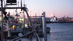 Berthed Crab Fishing Boat, North Shore 02 Stock Footage