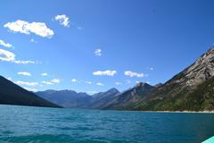 Lake Minnewanka, Banff, Alberta, Canada - stock photo