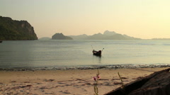 Placid Sunset Bay in Southern Thailand Stock Footage