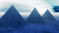4k timelapse of the famous pyramid in Egypt at night. Stock Footage