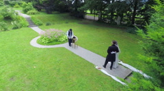 Stock Video Footage of Wedding photo shoot in a park