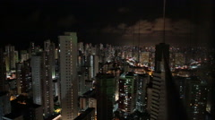 A timelapse and high angle view of the city of Recife, Pernambuco, Brazil Stock Footage