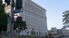 Metro Buses in Downtown Los Angeles - stock footage