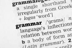 Grammar Dictionary Definition - stock photo
