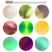 Stock Illustration of Set of colorful blurred round spots