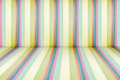 Rainbow leather texture perspective room Stock Photos