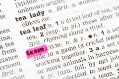 Team Dictionary Definition - stock photo