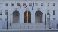 Hall of Justice in Downtown Los Angeles Stock Footage
