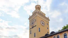 Rosa Khutor Tower Clock. HDR. Zoom. TimeLapse. Sochi, Russia. 1280x720 - stock footage
