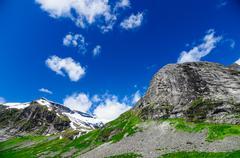Norwegian mountains ridge, summertime landscape Stock Photos