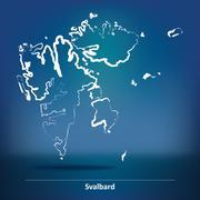 Doodle Map of Svalbard Stock Illustration