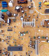 The printed circuit Board radio-electronic devices - stock photo