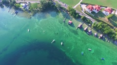 Gmunden, Traunsee, Lake Austria summer Stock Footage