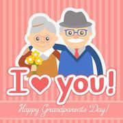Stock Illustration of Vector illustration. Happy grandparents day.
