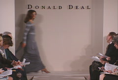 Fashion models walking on runway for Donald Deal Collection Stock Footage