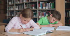 Concentrated on Study - stock footage