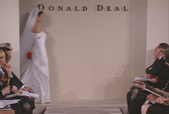 Donald Deal being appreciated by guests for her collection Stock Footage