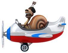 Fun snail - stock illustration