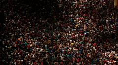 Crowds of people on a spectacular concert Stock Footage