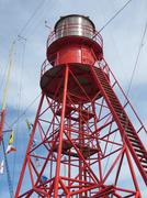 Light of Lightship Texel in Holland - stock photo