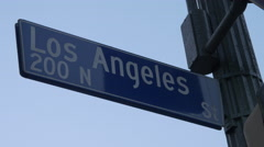 Los Angeles Ave Street Sign Stock Footage