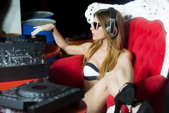 Sexy disk jockey girl Kuvituskuvat