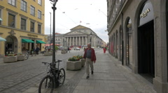 The Bavarian State Opera House seen from Perusastrasse, Munich Stock Footage
