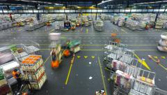 Time Lapse - Auction floor at Aalsmeer's FloraHolland flower auction Stock Footage
