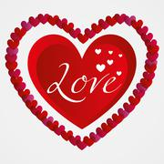 Illustration Vector Graphic Hearts, Love and Romantic - stock illustration
